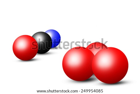 Illustration of colored balls isolated on white