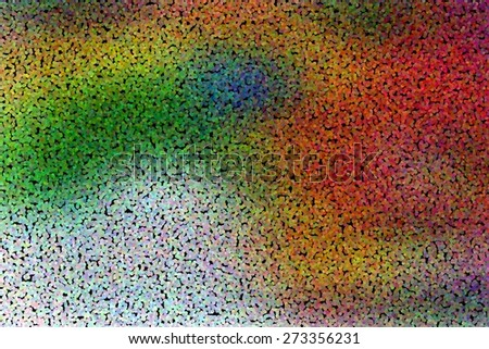 illustration of colorful abstract background with dotted pointillized style - stock photo