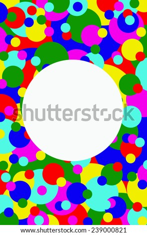 Illustration of colorful circle background.