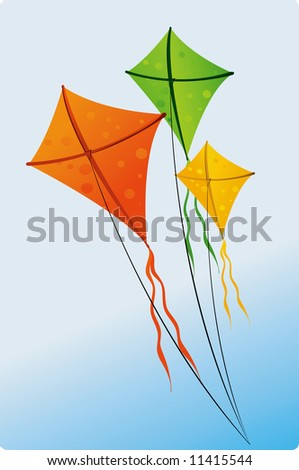Illustration of colorful kites