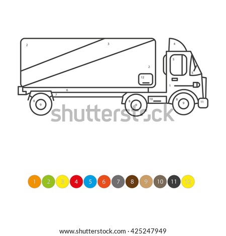 Illustration Of Coloring Book For Kids Truck Transportation Child Magazine Childrens Lessons