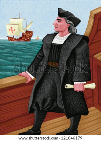 illustration of Columbus
