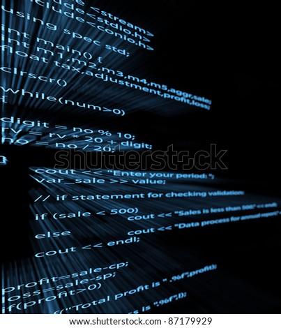 Illustration of computer program code - stock photo