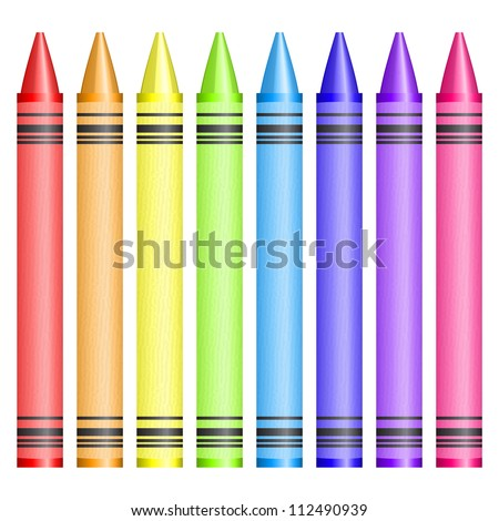 illustration of crayons - stock photo
