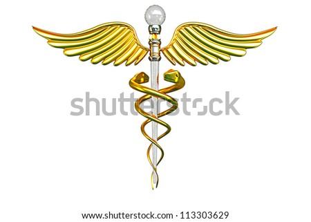 illustration of 3d medical Caduceus sign - stock photo