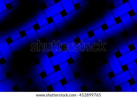 Illustration of dark blue and black weaved pattern - stock photo