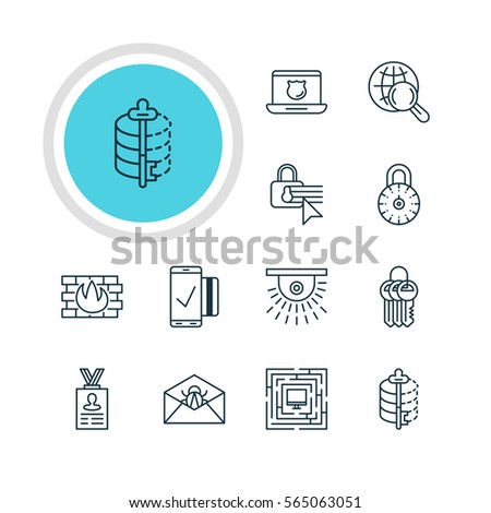 Illustration 12 data icons pack encoder stock illustration 565063051 illustration of 12 data icons pack of encoder camera network protection and other ccuart Gallery