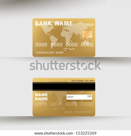 illustration of detailed credit card visa. bitmap  - stock photo