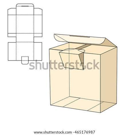illustration diecut craft box design website stock illustration 465176987 shutterstock. Black Bedroom Furniture Sets. Home Design Ideas