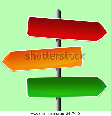 illustration of direction sign - stock photo