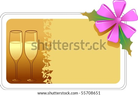 Illustration of drinks with colour background