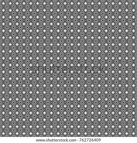 Illustration of dynamic composition made of gray, black and white colors rounded shapes lines in diagonal rhythm seamless pattern.