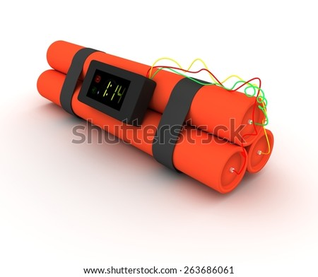 Illustration of Dynamite isolated on a white background - stock photo