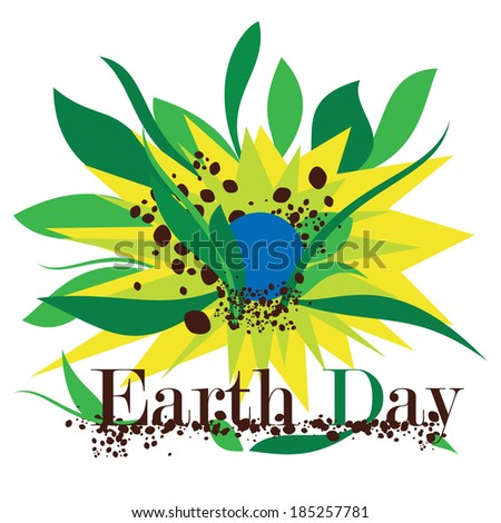Illustration of Earth Day - stock photo