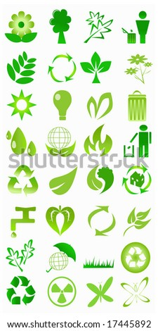 illustration of ecological icons