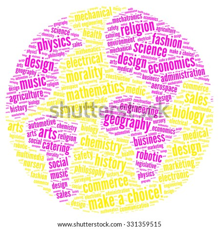 Illustration of education concept in modern word cloud