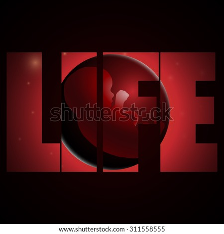 illustration of embryo, germ design, baby, fetus concept, nucleus, life - stock photo