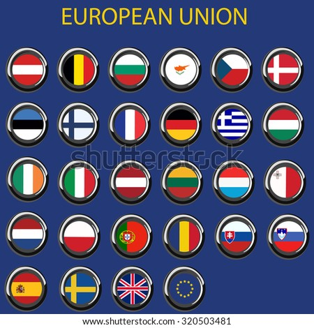 Illustration of  eu, flag, europe flag, european flags, european union flag - stock photo