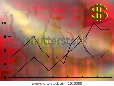Illustration of financial growth - stock photo