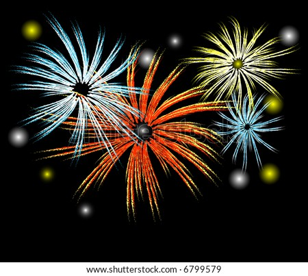 illustration of fireworks in the night sky the new year