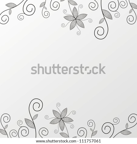 Illustration of floral pattern background black and white