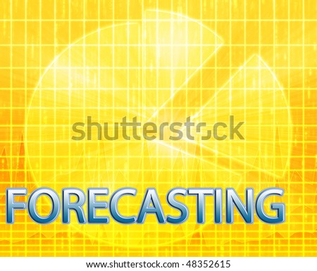 Illustration of forecasting budgeting finance and business pie chart - stock photo