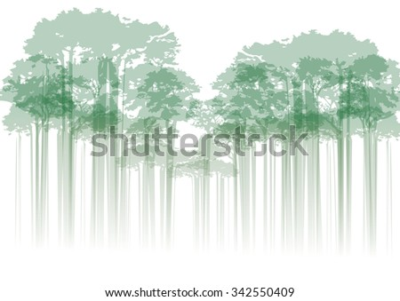 illustration of forest on neutral background