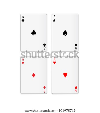 illustration of four aces - stock photo