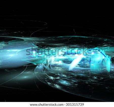 illustration of fractal abstraction background blur ghost town - stock photo
