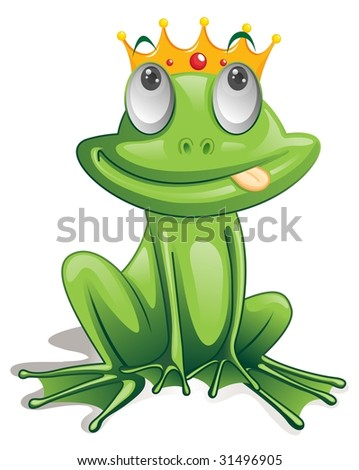 illustration of frog on white