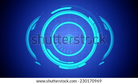 Illustration of Future Hologram Elements. - stock photo