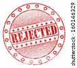 Illustration of ged grunge rubber stamp with the word rejected - stock photo