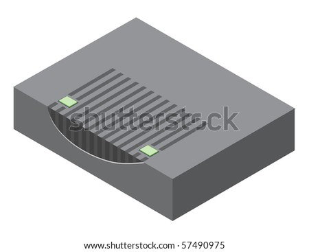 Illustration of generic router device. Vector version is available. - stock photo