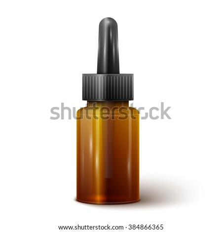 illustration of glass bottle with pipe dropper isolated