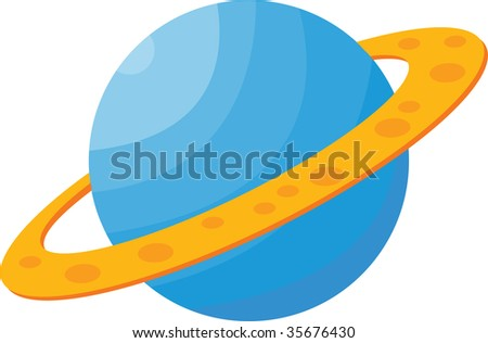 illustration of globe and ring on white