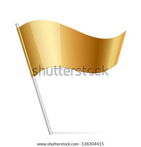 Illustration of gold flag - stock photo