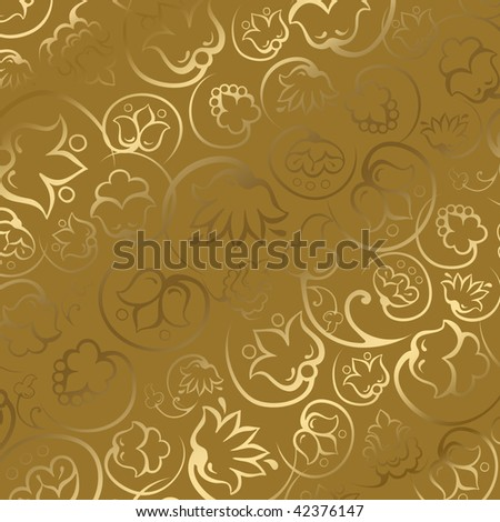Illustration of gold gift paper