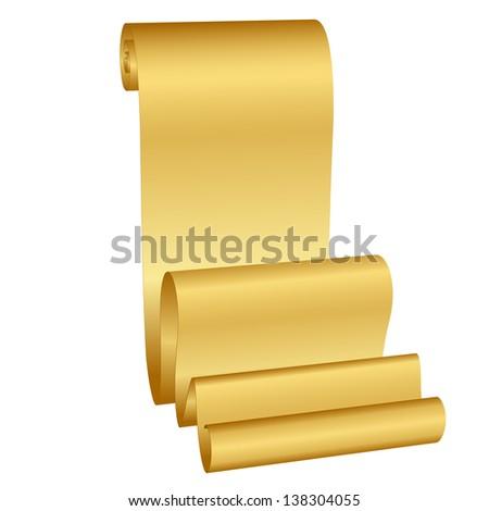 illustration of gold scroll - stock photo
