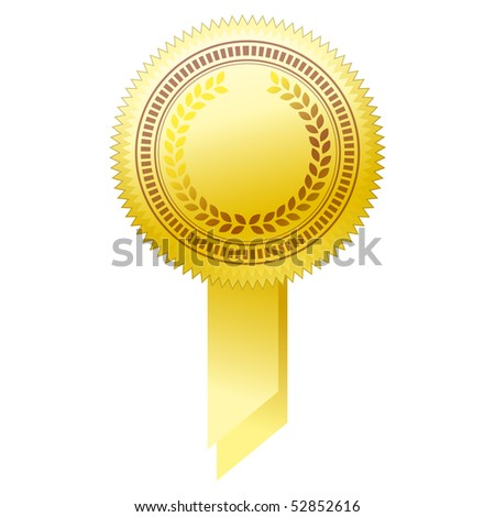 illustration of gold seal. - stock photo