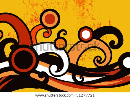 illustration of grange dance party invitation abstract background - stock photo