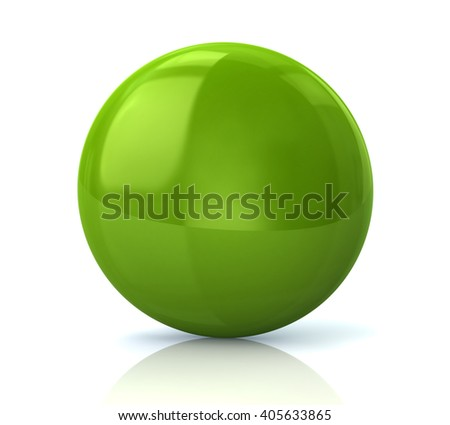 Illustration of green glossy button isolated on white background
