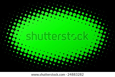 Illustration of Green spotted Flash with black background. Clipping Path. - stock photo