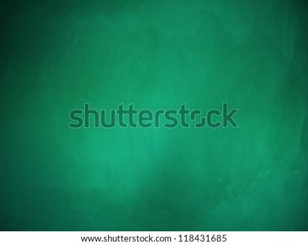 Illustration of grunge green chalkboard, blackboard texture background. - stock photo