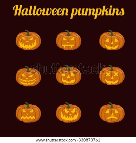 Illustration of halloween pumpkins,  halloween, pumpkin, halloween background, halloween party,  - stock photo