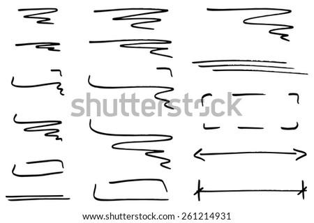 illustration of hand drawn design infographic elements  - stock photo