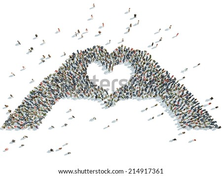 illustration of hands depicting the heart - stock photo