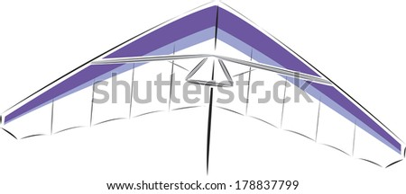 Illustration of hang-glider
