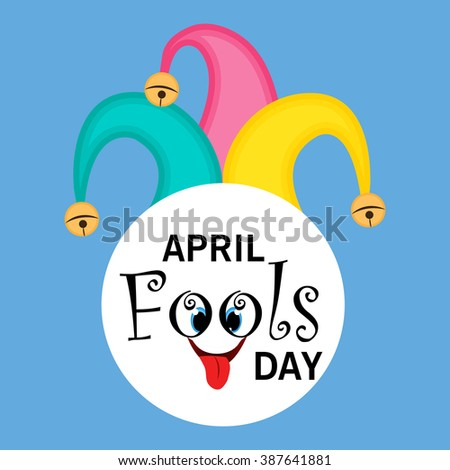 illustration of Happy Fool's Day concept with colorful stylish text on abstract background. - stock photo