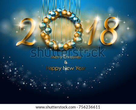 Illustration happy new year greeting card stock illustration illustration of happy new year greeting card in blue color m4hsunfo