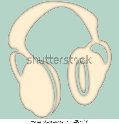 illustration of headphones - stock photo